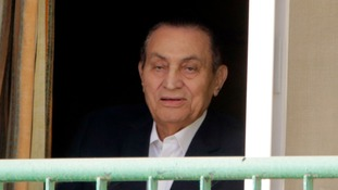 Mubarak at the Maadi Military Hospital in Cairo in 2016