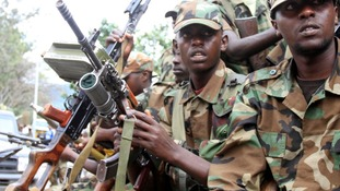 Congolese rebels in Goma