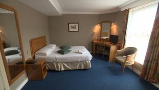 Khalid Masood's hotel room at the Preston Park Hotel in Brighton.
