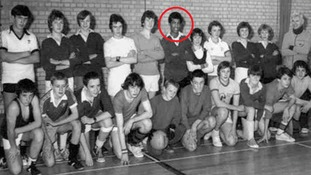 Khalid Masood (circled red) pictured with his school mates.
