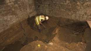 Excavations taking place last year under York Street.
