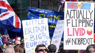 Thousands join pro-EU march in Westminster