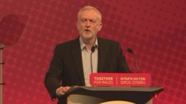 Jeremy Corbyn and Carwyn Jones speak at Welsh Labour's conference in Llandudno