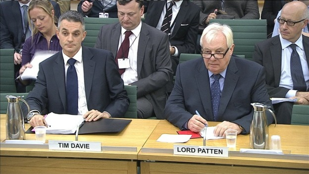 Tim Davie and Lord Patten