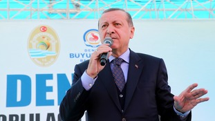 Tayyip Erdogan said Turkey may hold a vote on whether they should join the EU.