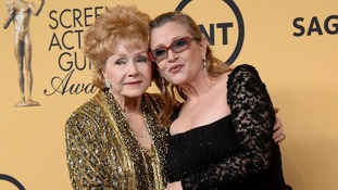 Hundreds of fans pay tribute to Hollywood stars Carrie Fisher and Debbie Reynolds