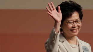 Carrie Lam is Hong Kong's first female leader and the fourth since British colonial control ended.