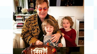 Birthday boy Elton John shares touching snap with sons