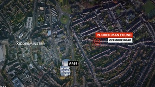 The man was found on Offmore Road, Kidderminster