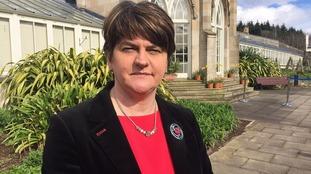 Democratic Unionist Party leader Arlene Foster has blamed Sinn Fein as talks stalled.