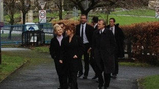 Coronation Street stars arrive for the funeral of Bill Tarmey who played Jack Duckworth