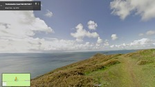 Google Map image of path