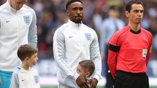 England goalscorer Jermain Defoe