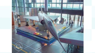 Mirage IV on display in Citie de Sciences, Paris