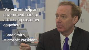 Microsoft boss tells ITV News: 'We will not help any government hack any customer anywhere'