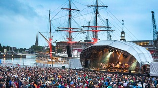 Bristol harbourside concert