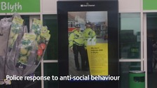 A poster that says 'we don't tolerate ASB in Blyth'