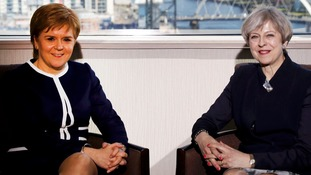May and Sturgeon clash over IndyRef2 in Brexit talks in Scotland