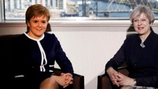 Theresa May met Nicola Sturgeon today
