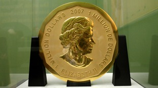 Giant gold coin worth more than £3 million stolen from Berlin museum