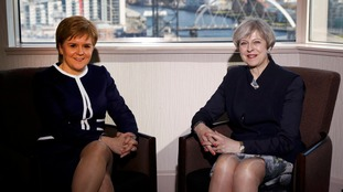 Nicola Sturgeon and Theresa May clashed over the timing of a second independence referendum.