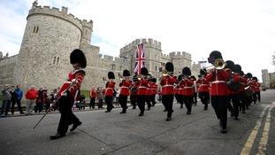 The Changing Of The Guard at Windsor Castle.