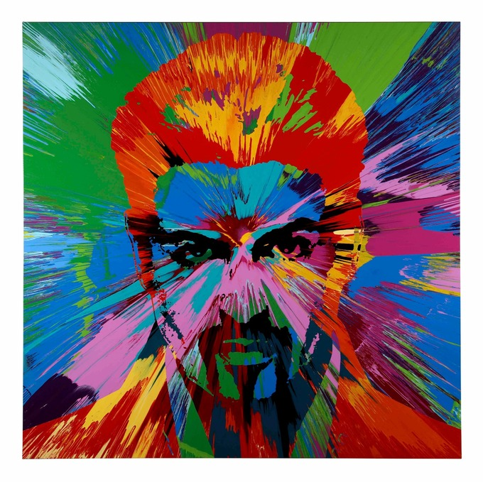 George Michael painting by Damien Hirst sells for £460,000 - ITV News
