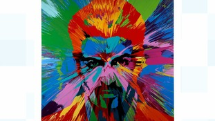 George Michael painting by Damien Hirst sells for £460,000