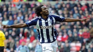 West Brom striker Romelu Lukaku