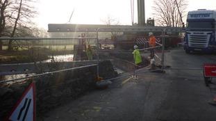 The bridge in Staveley.