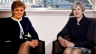 Nicola Sturgeon and Theresa May meet in Glasgow hotel