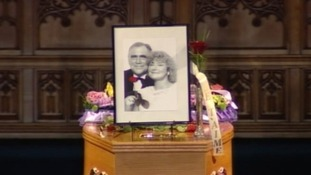 Bill Tarmey's coffin