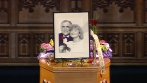 Bill Tarmey&#x27;s coffin