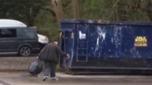 What a load of rubbish! Cleaner caught by bin bag prank
