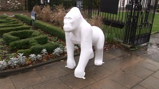 The gorillas will be painted by local artists