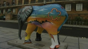 Elephant statues in Norwich, 2008