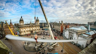The Blade – an installation of a large turbine blade in Hull city centre – pulled in the crowds