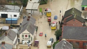 Flooding in St Asaph