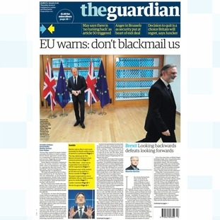 Thursday's edition of the Guardian.