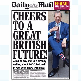 Thursday's edition of the Daily Mail.