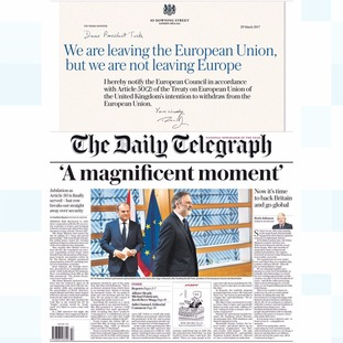 Thursday's edition of The Daily Telegraph.