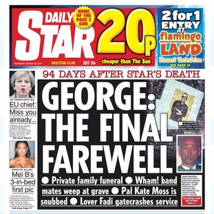 Thursday's edition of the Daily Star.