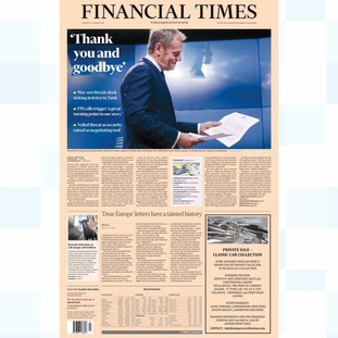 Thursday's edition of the Financial Times.