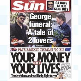Thursday's edition of The Sun.