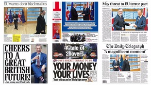 Article 50 dominates Thursday's headlines
