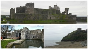 Beaumaris,Caerphilly and Criccieth castles
