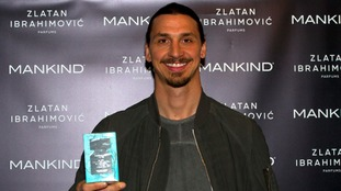 Manchester United's Zlatan launches fragrance range