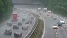 Four lanes are closed on the M1 Northbound between Hucknall and Alfreton