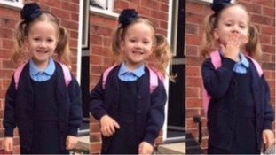 Little Violet-Grace was killed after being hit by a car on Friday
