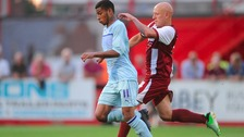 Leon Lobjoit (in sky blue) has moved to Northampton Town.